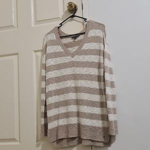 Beige and white stripped jumper